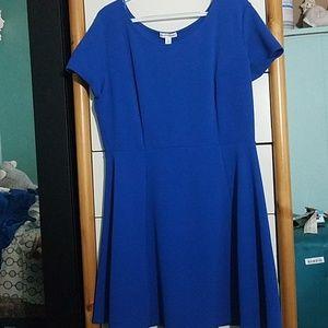 Blue flowy dres